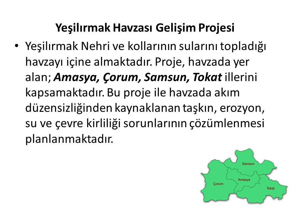 Yeşilırmak Havzası Gelişim Projesi Yeşilırmak Nehri ve kollarının sularını topladığı havzayı içine almaktadır. Proje, havzada yer alan; Amasya, Çorum,