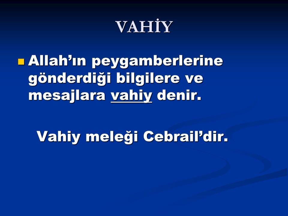 Kur'an-ı Kerim: Allah'ın yaklaşık 23 yılda peygamberimiz Hz.Muhammed'e gönderdiği kutsal kitaba denir.