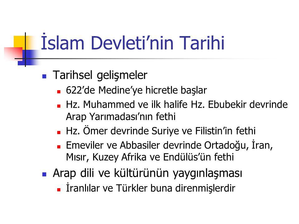 Tarihi Gelişmeler 610: Kur'an vahyedilmeye başlandı 622: Medine'ye Hicret 630: Mekke'ye dönüş 632: Hz.
