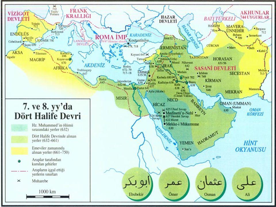 Arap Fetihlerinin Nedenleri Askeri bir bütünlük ve üstünlük Otoriter bir örgütlenme Kanbağı ve aşiret dayanışması Bizans ve Sasani ülkelerinde çöküntü ve kargaşa Heterojenlik Harpler, ağır vergiler, zulüm ve soygun Dini baskı Zerdüştlüğün kast sisteminin kaldırılması