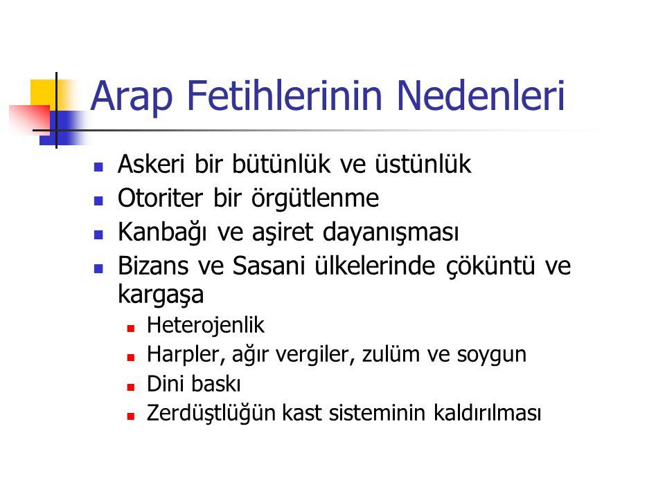 Yönetim Sistemi Fethedilen toprakların idarecilerinin kullanılması (vergi, yargı ve asayişte) Sasani aristokrasisi, köy reisleri Rumca ve Aramca bilen Hıristiyanlar