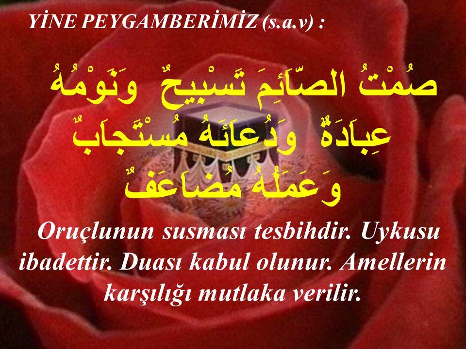 Ramazan ayı geldiği zaman Peygamberimiz (s.a.v)de bir takım değişiklikler olurdu.