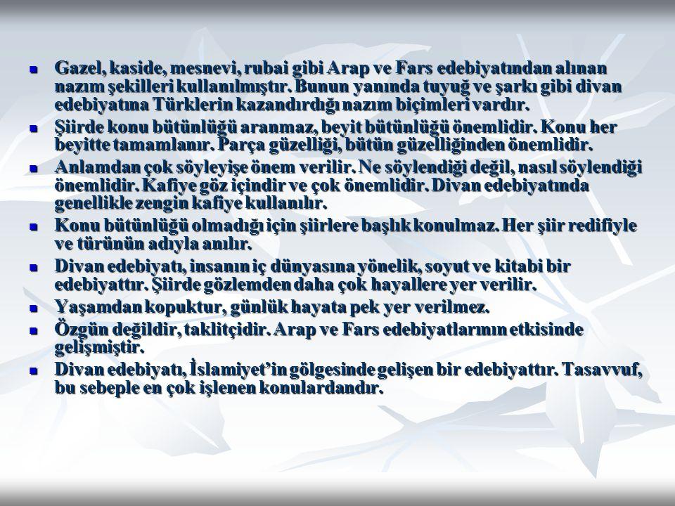 14.YÜZYIL Seyyid Nesimi : Eserlerinde Azeri Türkçesini kullanmıştır.