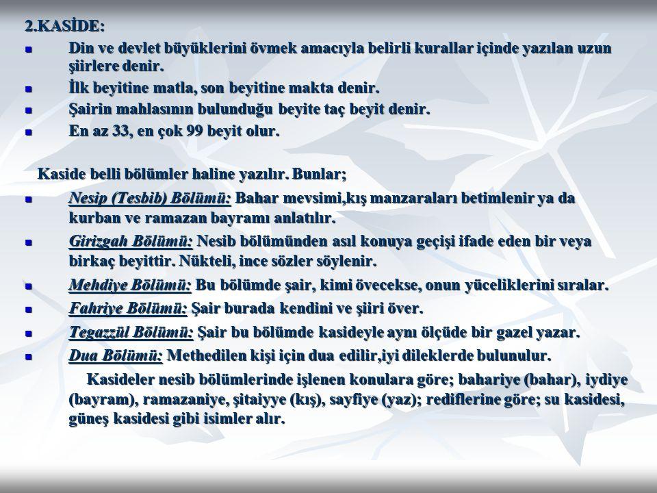 17.YÜZYIL Nef'i (1582-1636) : Asıl adı Ömer Nef'i Erzurumludur.