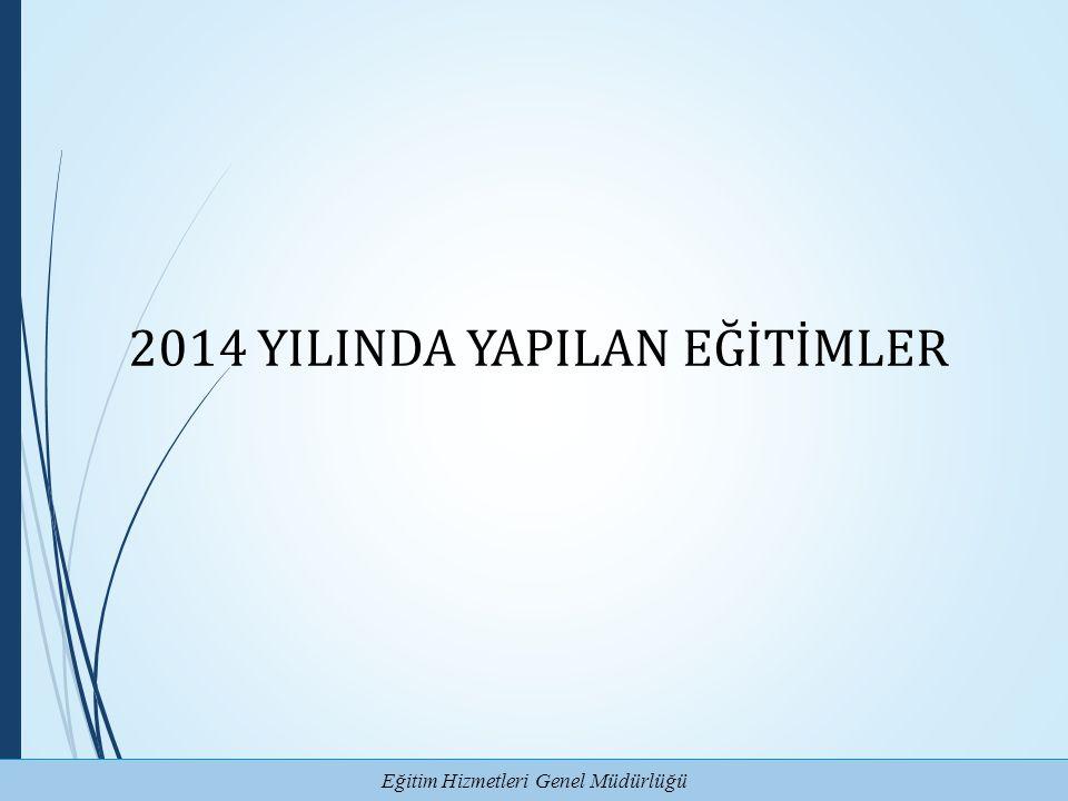 Eğitim Hizmetleri Genel Müdürlüğü 2014 YILINDA YAPILAN EĞİTİMLER