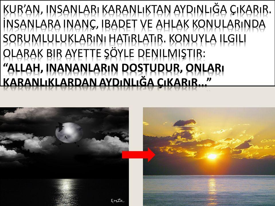 Görmedin mi Allah nasıl bir misal getirdi: Güzel bir sözü, kökü (yerde) sabit, dalları gökte olan güzel bir ağaca (benzetti).