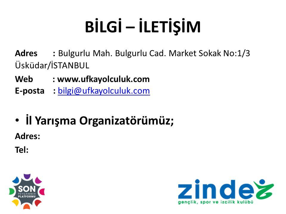 BİLGİ – İLETİŞİM Adres : Bulgurlu Mah.Bulgurlu Cad.