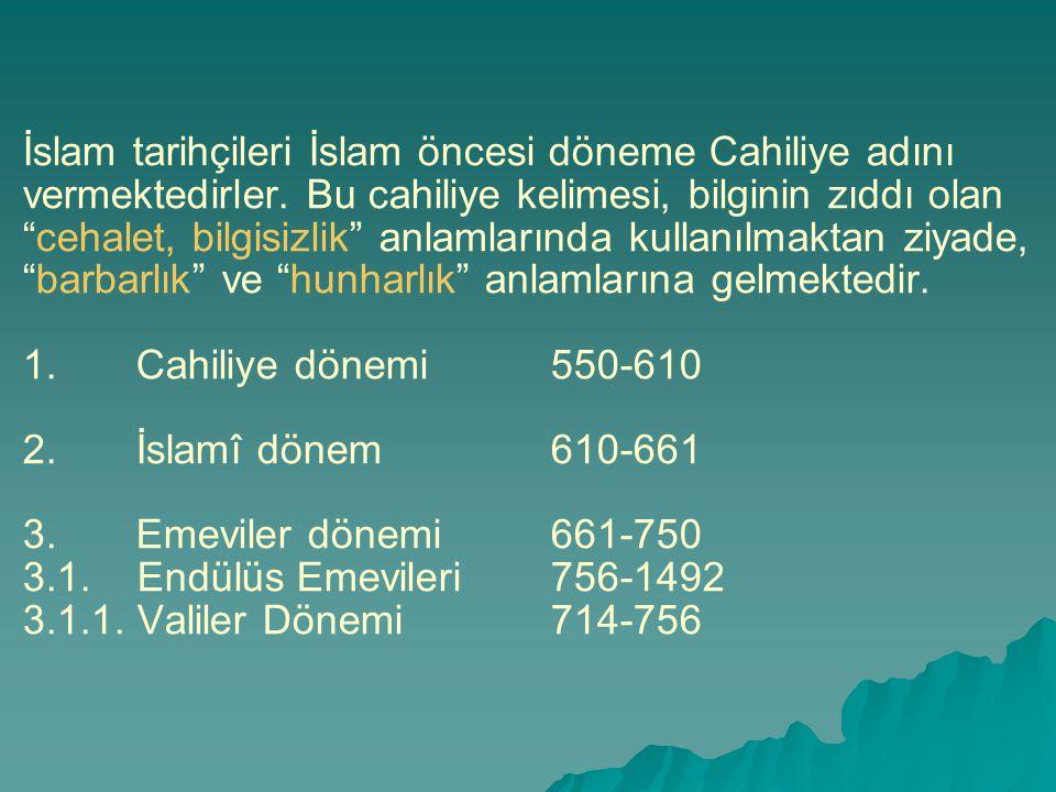 """İslam tarihçileri İslam öncesi döneme Cahiliye adını vermektedirler. Bu cahiliye kelimesi, bilginin zıddı olan """"cehalet, bilgisizlik"""" anlamlarında kul"""
