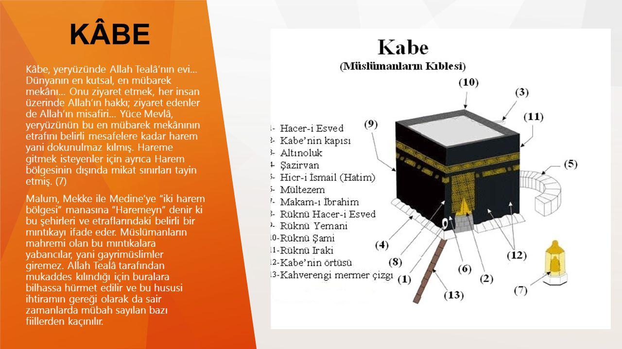 KÂBE Kâbe, yeryüzünde Allah Tealâ'nın evi… Dünyanın en kutsal, en mübarek mekânı… Onu ziyaret etmek, her insan üzerinde Allah'ın hakkı; ziyaret edenle