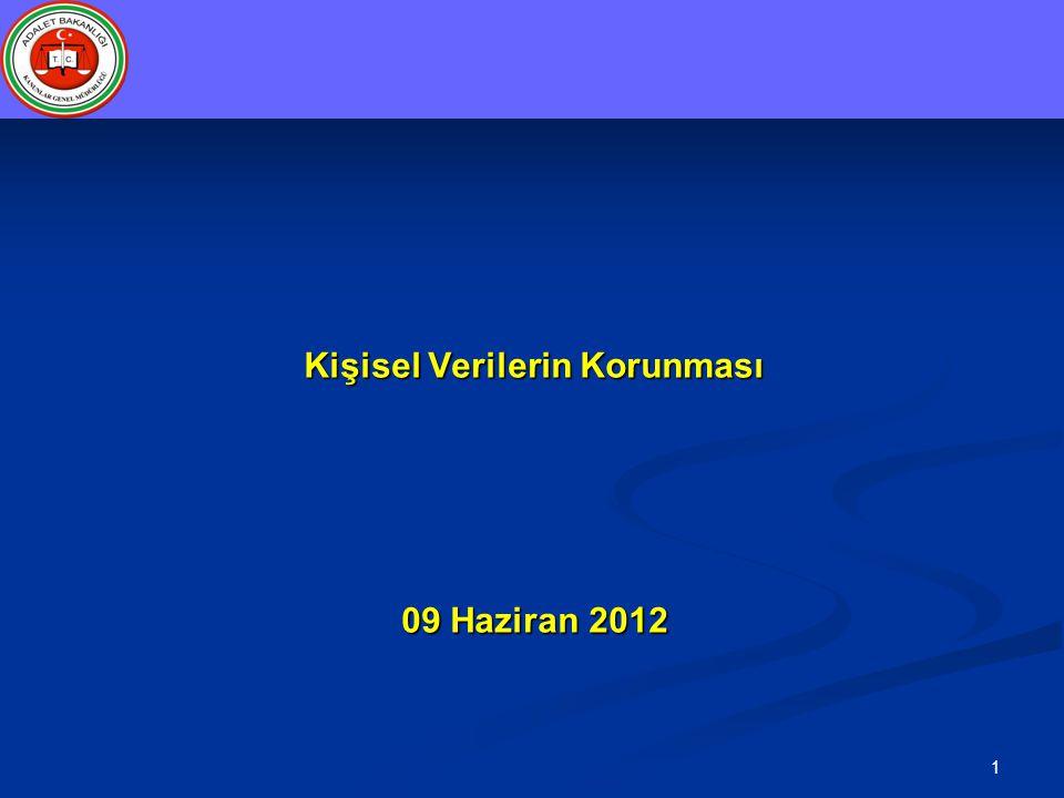 1 Kişisel Verilerin Korunması 09 Haziran 2012