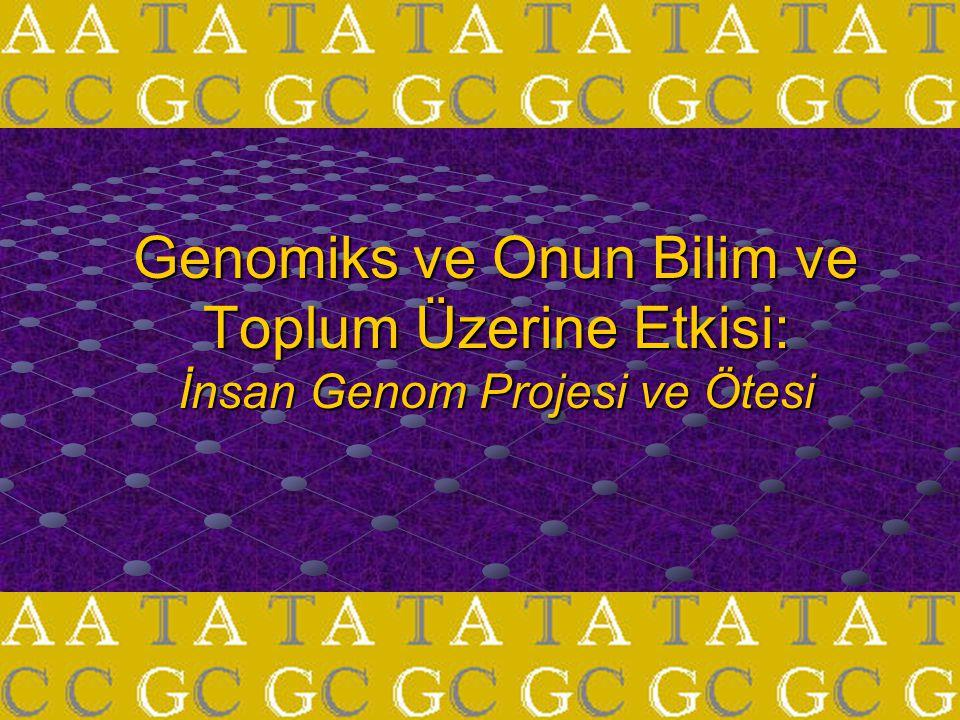 Ana hatlar İnsan Genom Projesi ile ilgili arka plan bilgisi Çeşitli uygulama alanları FarmakogenomiksNutrigenomiks
