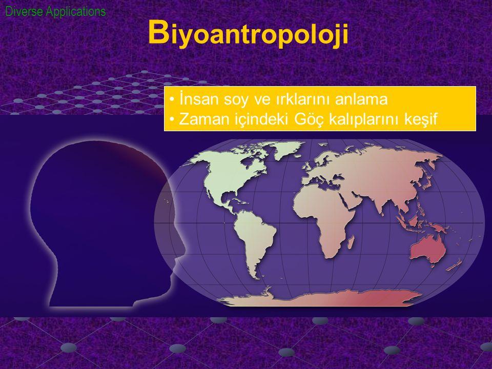 B iyoantropoloji İnsan soy ve ırklarını anlama Zaman içindeki Göç kalıplarını keşif Diverse Applications
