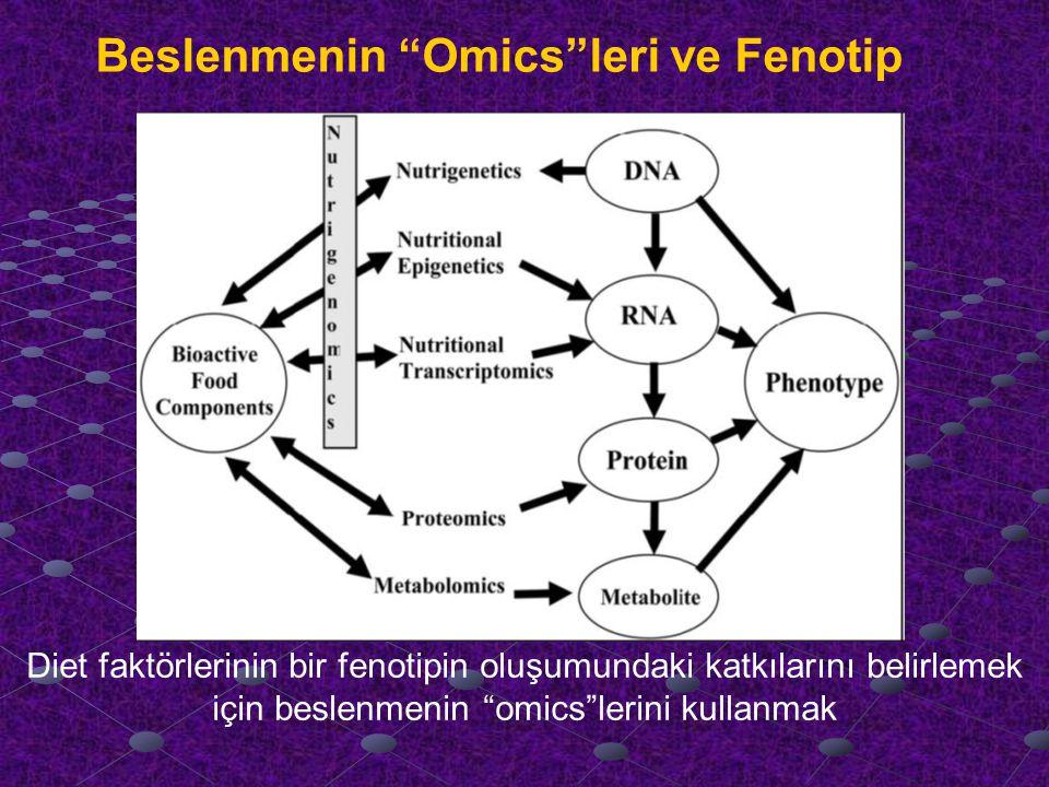 Diet faktörlerinin bir fenotipin oluşumundaki katkılarını belirlemek için beslenmenin omics lerini kullanmak Beslenmenin Omics leri ve Fenotip
