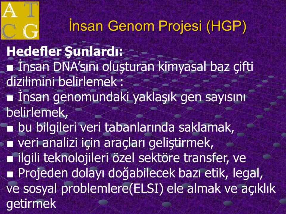 İnsan genom Projesi Sonrası Çeşitli Uygulamalar