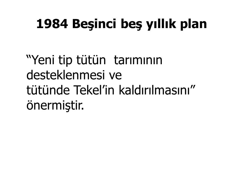 3 Temmuz 1992 Dr Ahmet Feyzi Inceöz ikinci tütün yasasını meclise sunar.