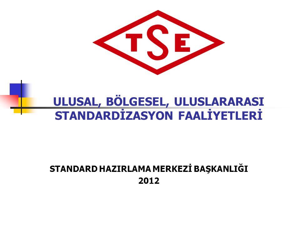 27.03.2015 Standard Hazırlama Merkezi Başkanlığı 12 Belgelendirme Ürün Personel Sistem Türk Standardları Enstitüsü- Faaliyet alanları Gözetim ve Muayene Laboratuvar Metroloji ve Kalibrasyon Standard Hazırlama