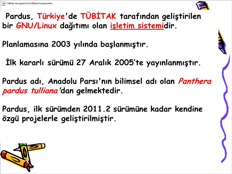 Pardus, Türkiye'de TÜBİTAK tarafından geliştirilen bir GNU/Linux dağıtımı olan işletim sistemidir. Planlamasına 2003 yılında başlanmıştır. İlk kararlı