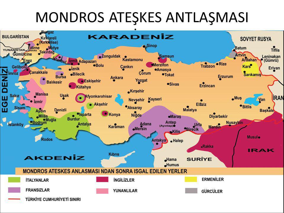 MONDROS ATEŞKES ANTLAŞMASI 30 EKİM 1918