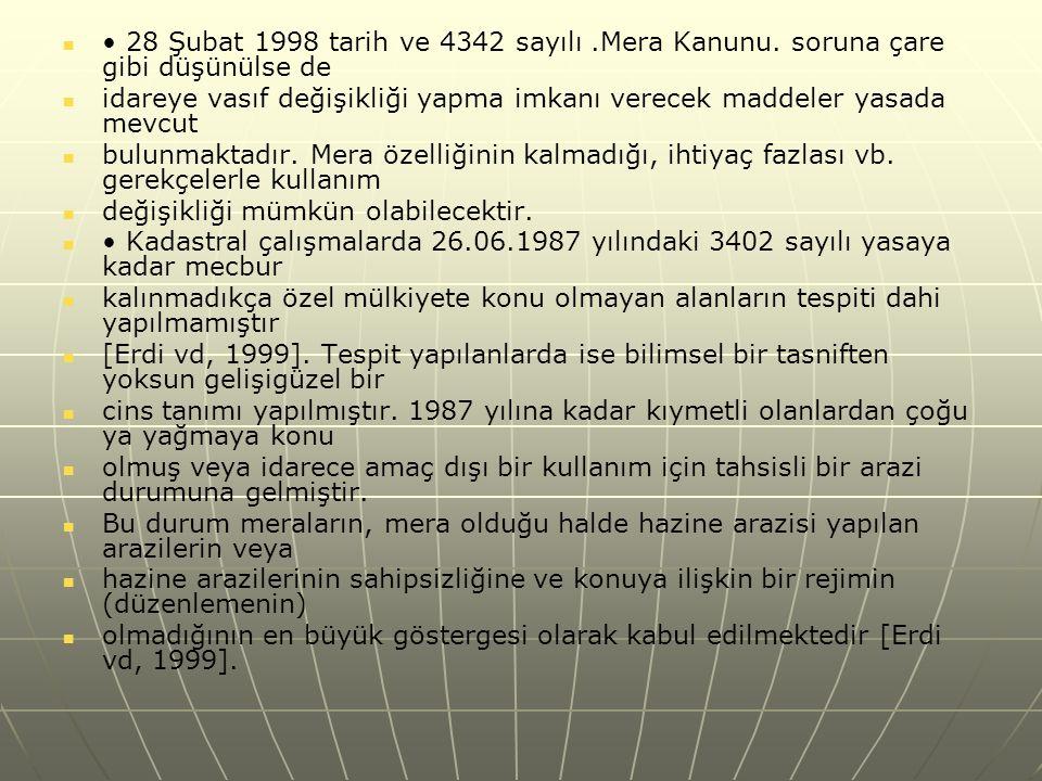 28 Şubat 1998 tarih ve 4342 sayılı.Mera Kanunu.