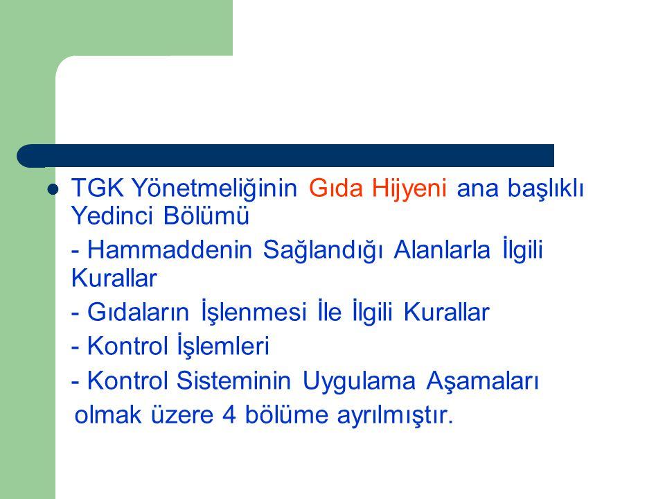 Türk Gıda Kodeksi Yönetmeliği 16 Kasım 1997 tarih ve 23172 sayılı Resmi Gazete'de yayımlanarak yürürlüğe girmiştir. Bu Yönetmelik gıdaların kalite ve