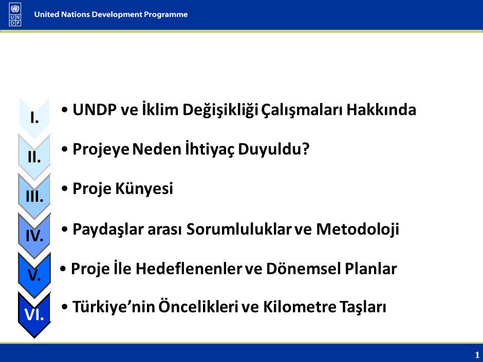1 I.UNDP ve İklim Değişikliği Çalışmaları Hakkında II.