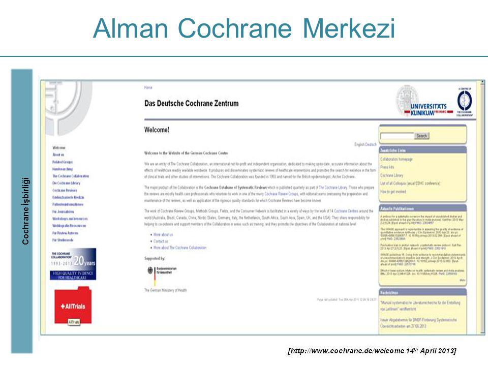 Alman Cochrane Merkezi Cochrane İşbirliği