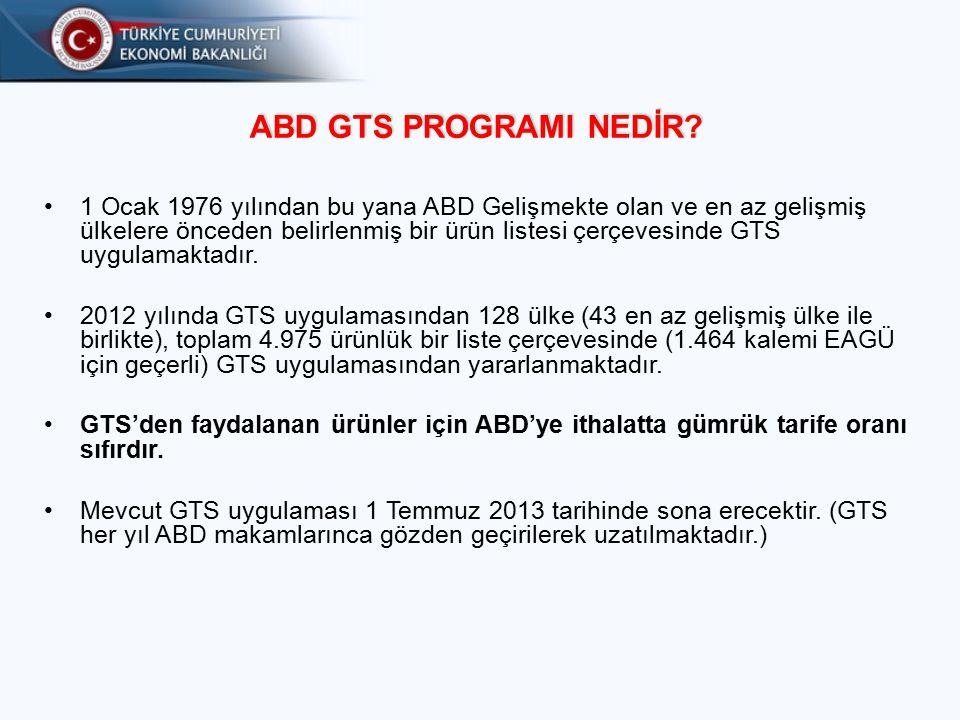 Ülke'nin GTS'den Çıkarılması (Graduation) Bir ülkenin GTS uygulamasından çıkarılması milli gelir ya da rekabet üstünlüğü faktörlerine göre değerlendirilmektedir.