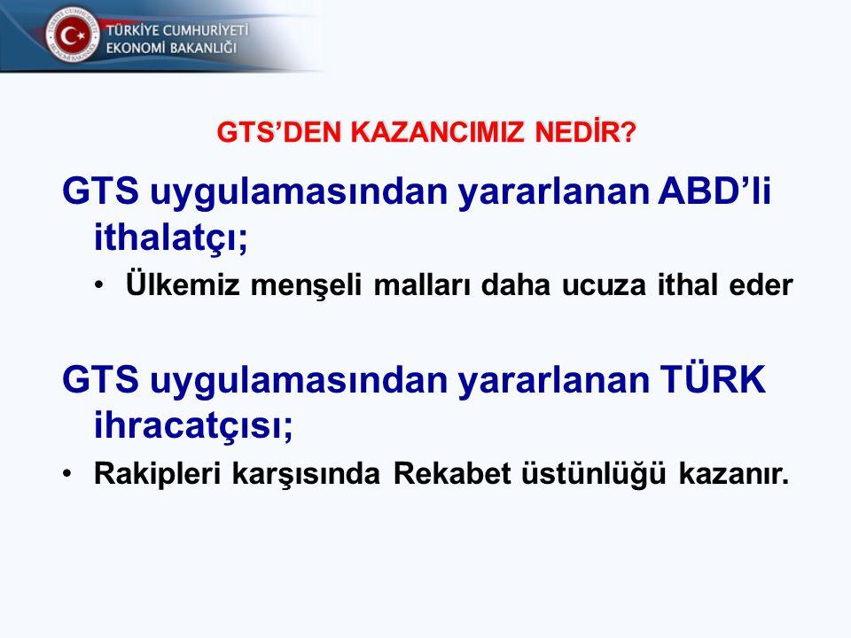 ABD GTS PROGRAMI'NIN TEMEL ESASLARI ABD GTS Programından yaralanmak isteyen ihracatçılarımızın bilmesi gereken hususlar nelerdir?