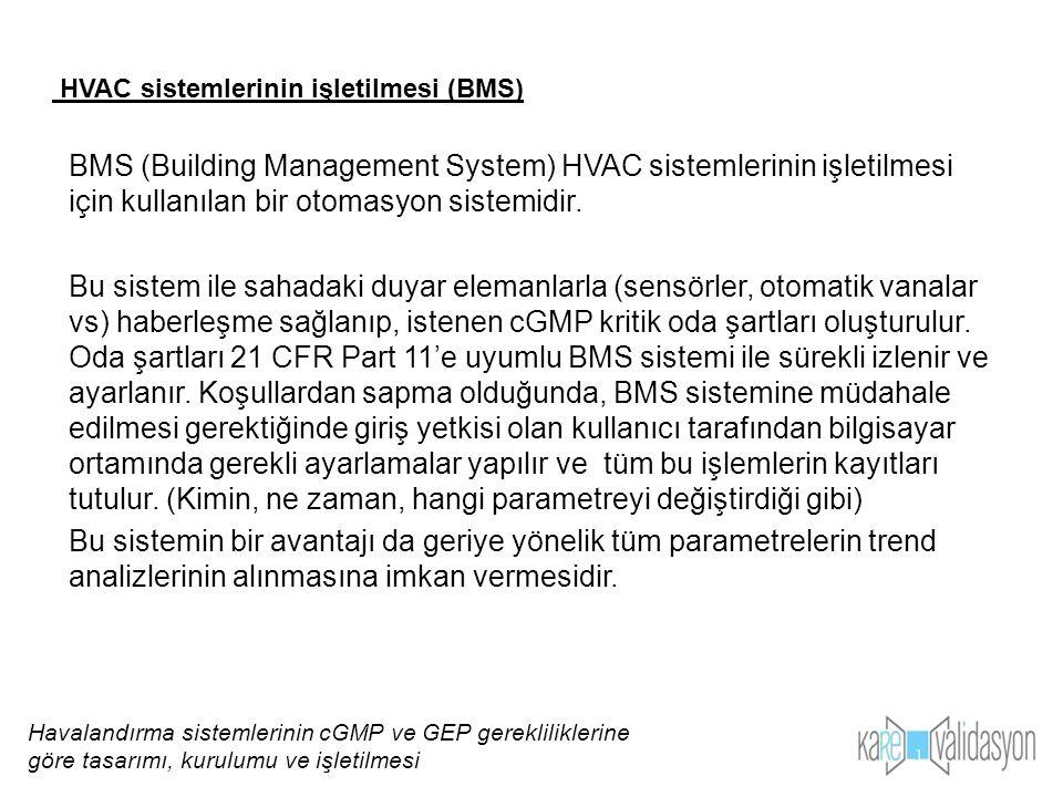 BMS (Building Management System) HVAC sistemlerinin işletilmesi için kullanılan bir otomasyon sistemidir. Bu sistem ile sahadaki duyar elemanlarla (se