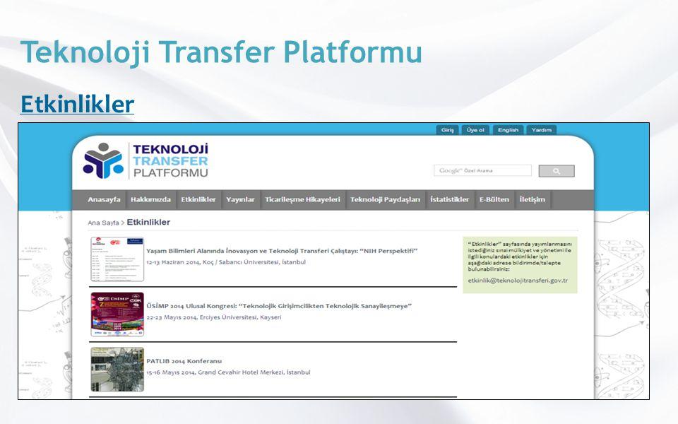 Teknoloji Transfer Platformu Etkinlikler