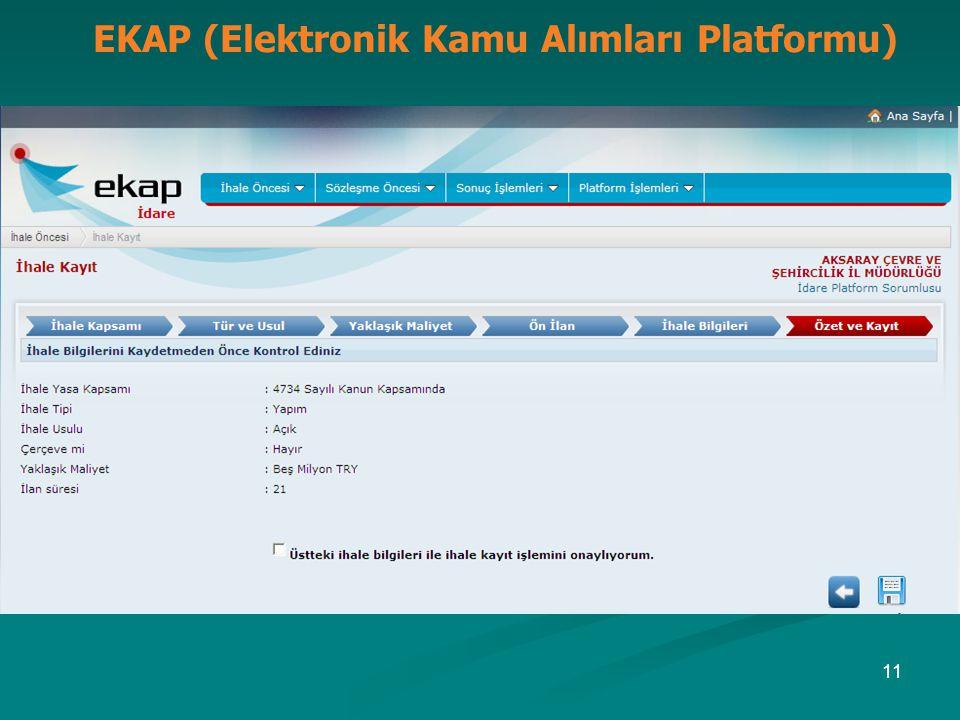 EKAP (Elektronik Kamu Alımları Platformu) 11