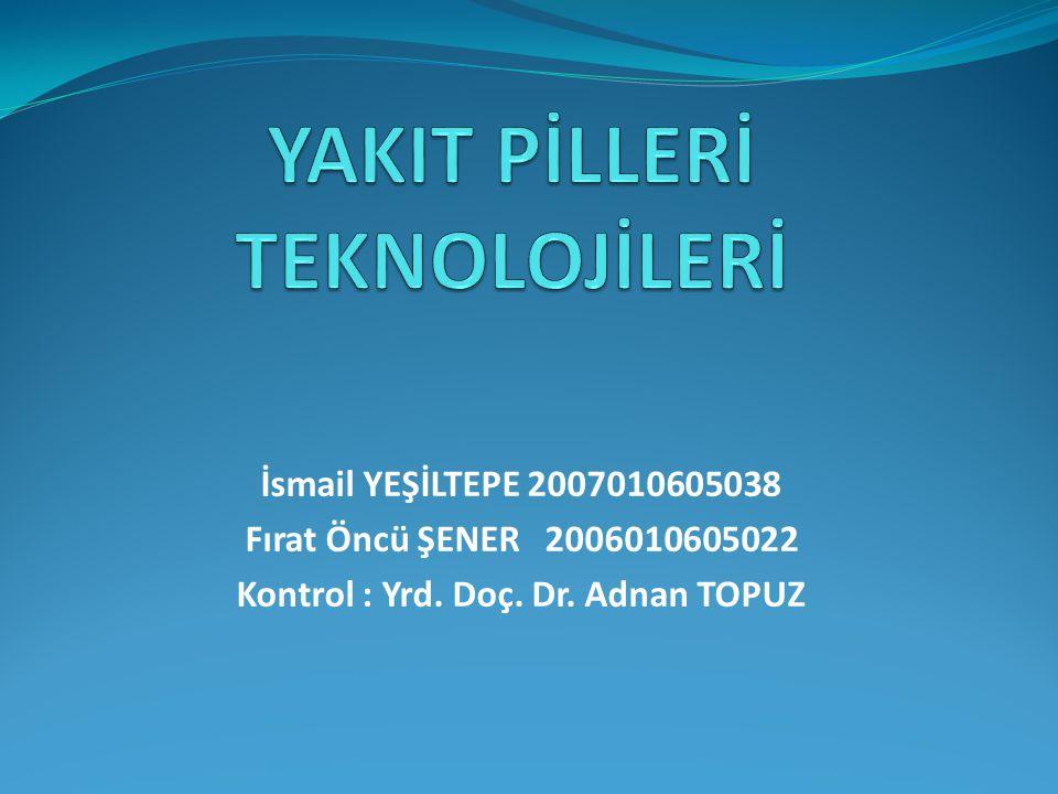 İsmail YEŞİLTEPE 2007010605038 Fırat Öncü ŞENER 2006010605022 Kontrol : Yrd. Doç. Dr. Adnan TOPUZ