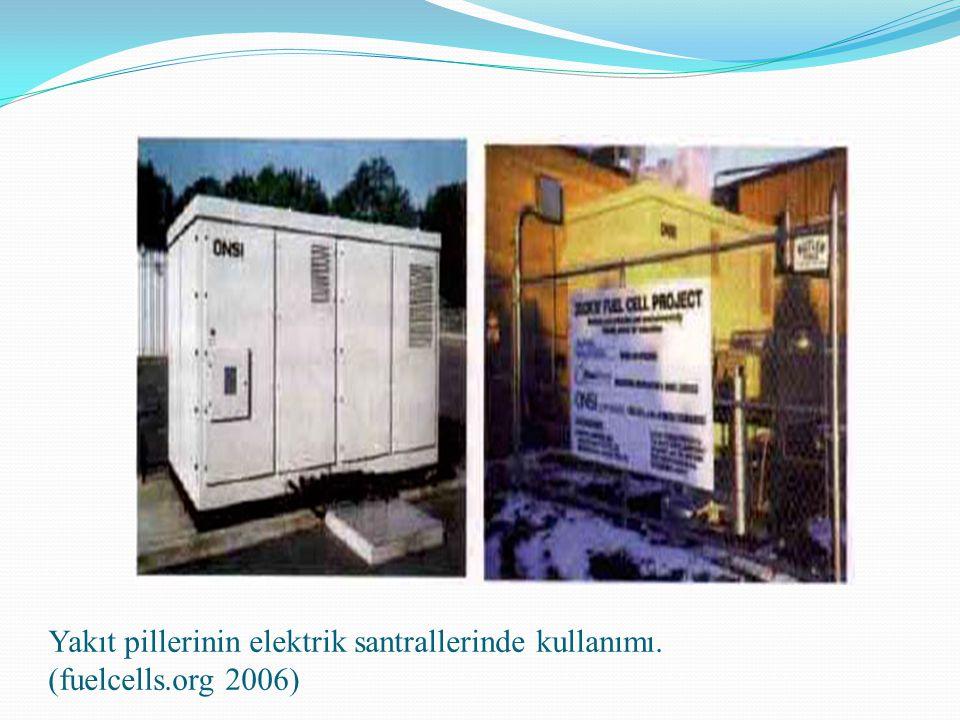 Yakıt pillerinin elektrik santrallerinde kullanımı. (fuelcells.org 2006)