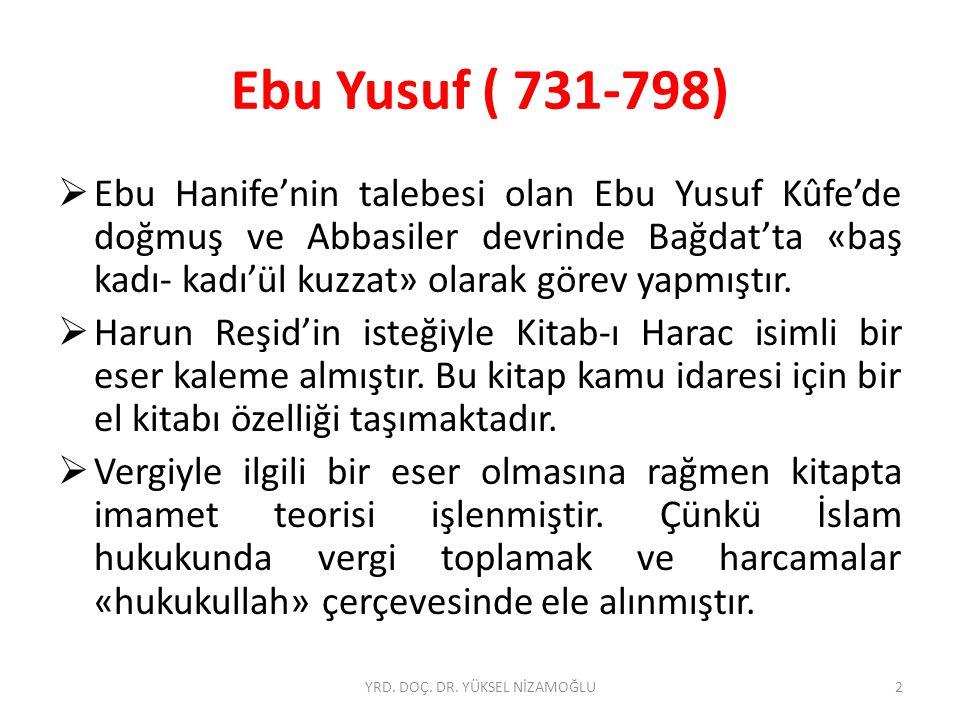 İbn-i Teymiye (1263-1328)  Hanifi ŞAHİN, «İBN TEYMİYYE'NİN SİYASET ANLAYIŞI», JASS, Volume 6 Issue 3, s.