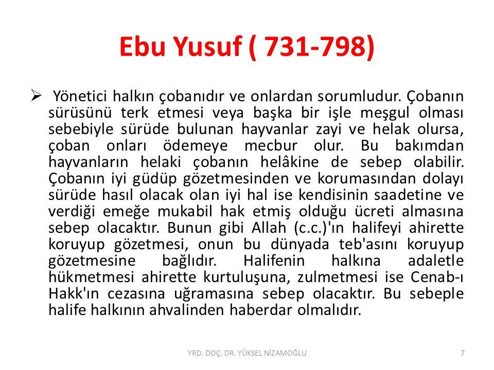 """İbn-i Teymiye (1263-1328)  İbn Teymiyye""""ye göre Müslümanların zayıflığının temel nedenleri arasında yer alan, adaletsizlik, ehil olmayanların üst mevkilere getirilmesi gibi pratik bazı sorunlardan yukarıda bahsedildi."""
