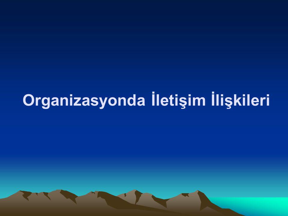 Organizasyonda İletişim İlişkileri