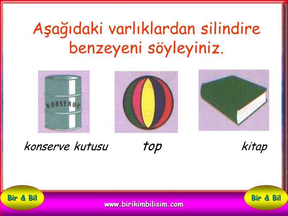 Çevrenizde silindire benzeyen üç varlık adı söyleyiniz. 1: 2: 3: www.birikimbilisim.com Bir & Bil