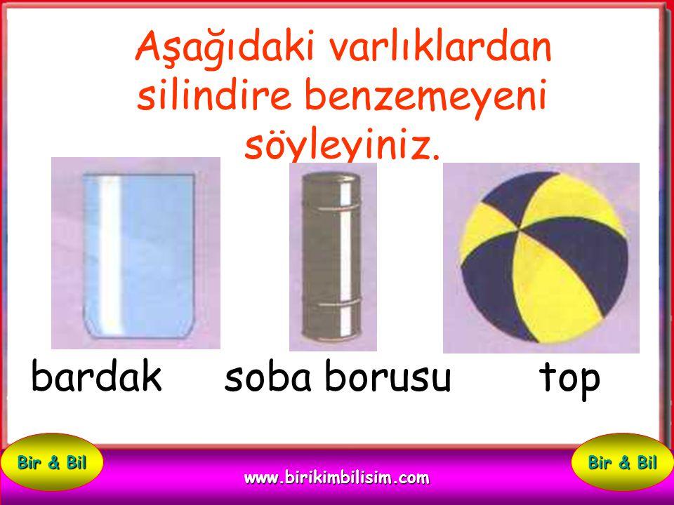 konserve kutusu top kitap Aşağıdaki varlıklardan silindire benzeyeni söyleyiniz. www.birikimbilisim.com Bir & Bil