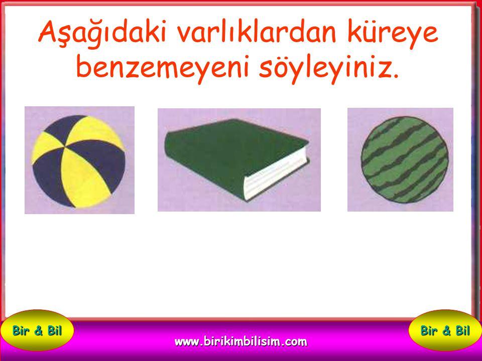 Aşağıdaki varlıklardan küreye benzeyeni söyleyiniz. Kitap top kalem www.birikimbilisim.com Bir & Bil