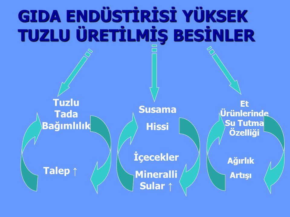 2008 SaltTURK Çalışmasına Göre Her 100 mEq/gün Sodyum Alımı (~6 gr.