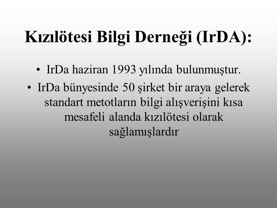 Kızılötesi Bilgi Derneği (IrDA): IrDa haziran 1993 yılında bulunmuştur.