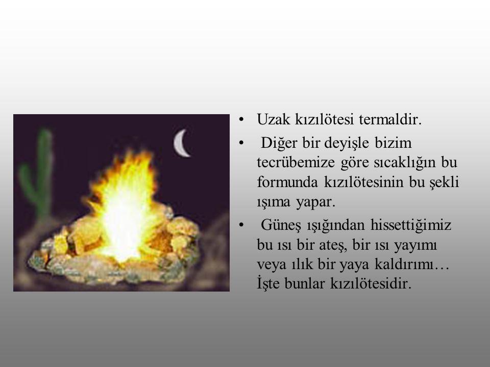 Kızılötesi ışıklar bazen yiyeceklerin ısıtılmasında dahi kullanılmaktadır.