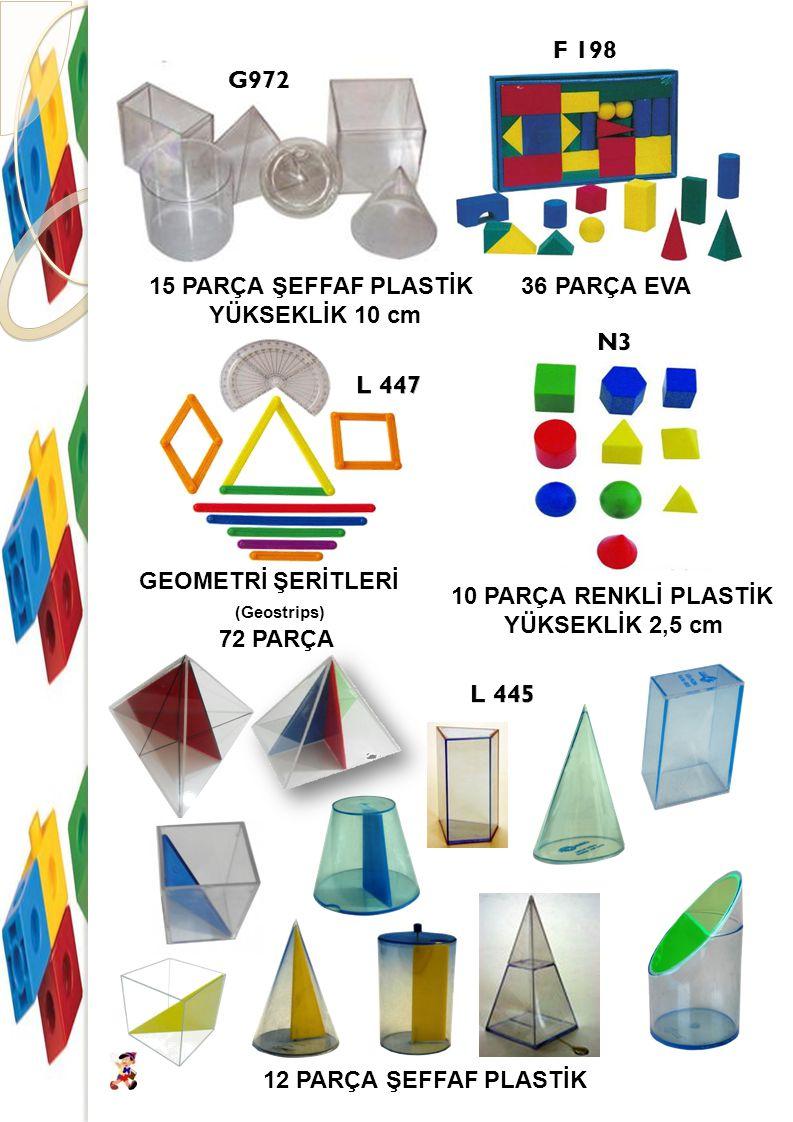 BİRİM KÜPLER (Snap cube) 500 ADET BİRBİRİNE GEÇMELİ BİRİM KÜPLER (Cube) 100 ADET 2 cm BİRİM KÜPLER (Centimeter Cubes) 1000 ADET 1 cm 500 ADET 1 cm ONLUK TABAN BLOKLARI (Base Ten Blocks) 121 PARÇA 4 RENK ÖRÜNTÜ BLOKLARI (Pattern Blocks) 250 PARÇA ONLUK TABAN BLOKLARI (CLEAR VİEW BASE TEN BLOCKS) 145 PARÇA ŞEFFAF