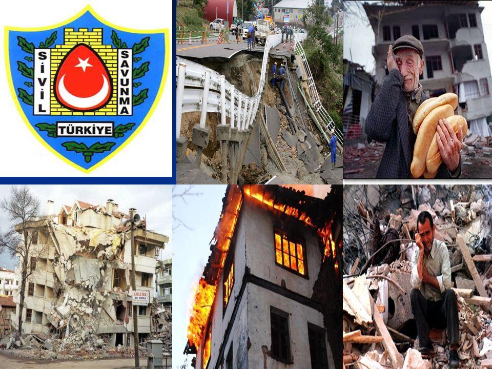 a)Depremin kişi ve çevre üzerindeki etkileri, b)Depremin her tipteki yapılar üzerindeki etkileri, c) Depremin arazi üzerindeki etkileri belirtilmiştir.