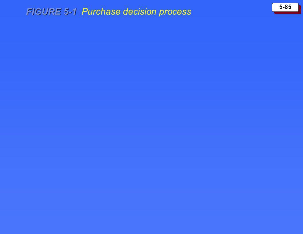 5-85 FIGURE 5-1 FIGURE 5-1 Purchase decision process