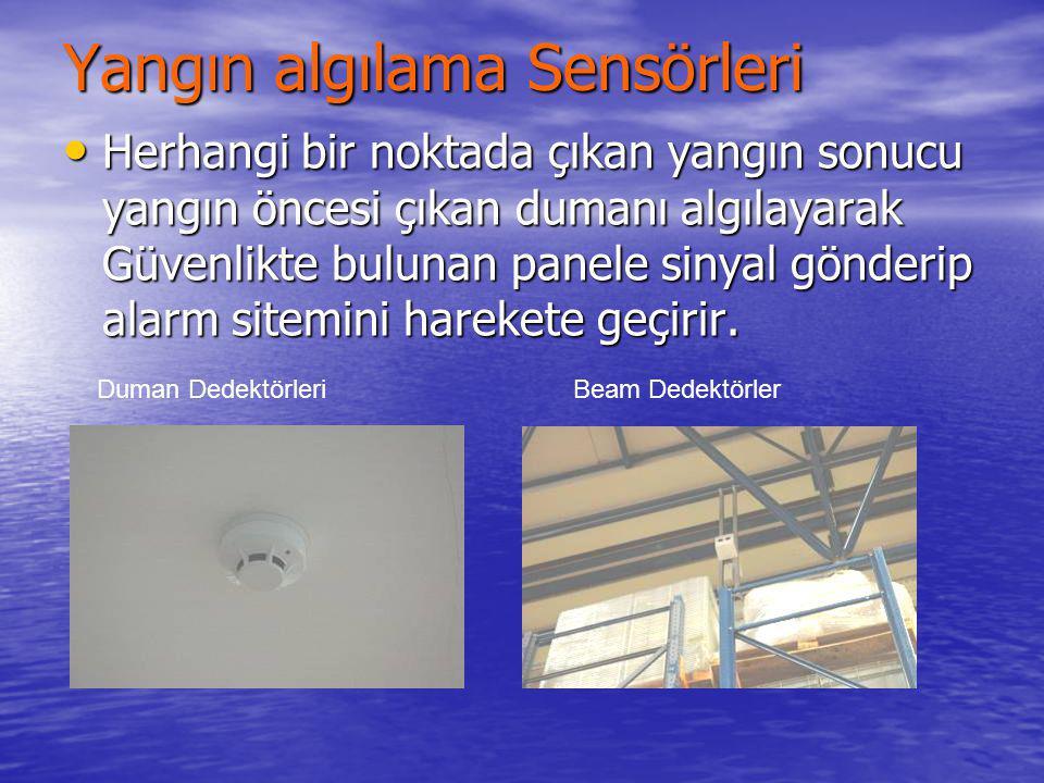 Yangın Algılama Sistemi Tüm fabrika içine monte edilmiş olan Yangın algılama sensörleri; Duman dedektörleri Beam dedektörler Isı dedektörleri Acil dur