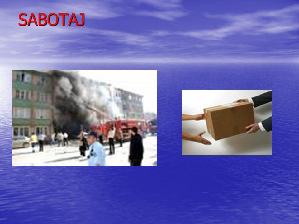 Sabotaj İçin Alınması Gereken Önlemeler Çalışma alanına giriş çıkışların kontrol edilmesi ve giriş çıkış yapan kişi ve araçların kontrol edilmesi Çalı
