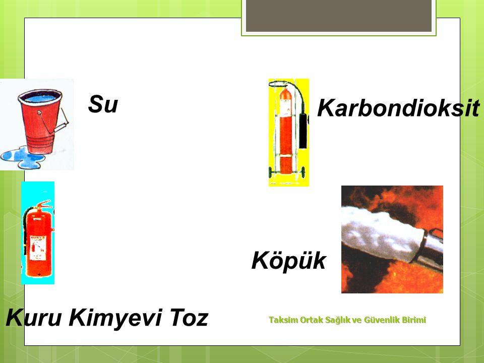 C Sınıfı Yangınlar : Likit petrol gazı, havagazı, hidrojen gibi yanabilen çeşitli gazların yanmasıyla oluşan yangınlardır. Kuru kimyevi toz kullanarak