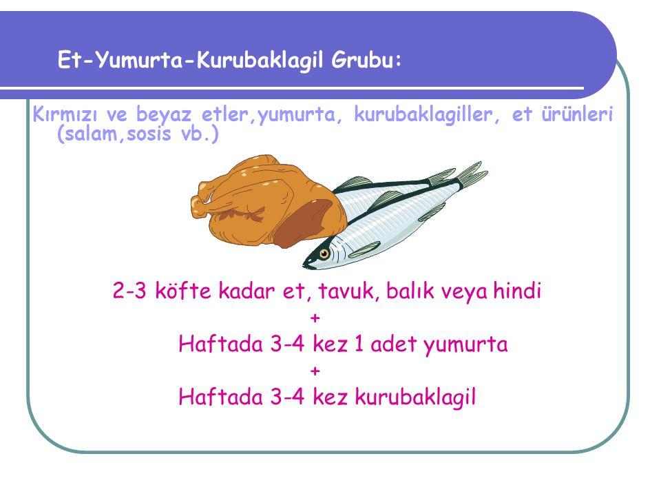 İLKÖĞRETİM ÇOCUKLARININ GÜNLÜK ALMASI GEREKEN BESİN GRUPLARI Süt ve süt ürünleri: Süt, yoğurt, peynir,ayran, süt tozu,sütlü tatlılar Süt-Yoğurt: 2-3 su bardağı + Peynir-Çökelek: 1 kibrit kutusu