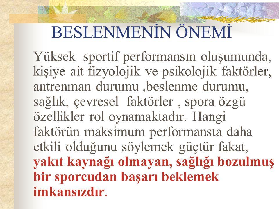 FUTBOLDA BESLENMENİN ÖNEMİ DOÇ.DR.AYSEL PEHLİVAN